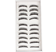 10Pcs Dense False Eyelashes