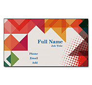 200pcs Personalized 2 Sides Printed Matte Film Colorful Graphic Pattern Business Card