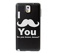 I Love Moustache Pattern Plastic Hard Case for Samsung Galaxy Note 3/N9000