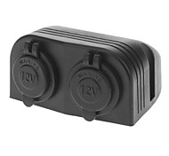 Impermeable del cigarrillo 2-en-1 Cargador Mechero enchufes para los coches (DC 12V)