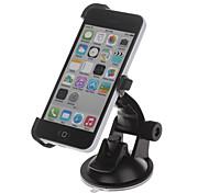 360 Grad Drehung Halter Halterung w / H01 Saugnapf für iPhone 5c - Schwarz