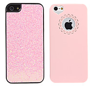 2 in 1 Light Pink Sweet Heart+Light Pink Bling Back Case for iPhone 5/5S
