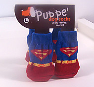 Superman Cotton Sock Pet Socks Anti-Slip for Pets Dogs and Cats