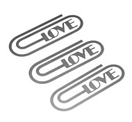3pcs Sliver Stainless Steel Love Clips