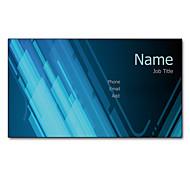 200pcs Personalized 2 Sides Printed Matte Film Blue Light Pattern Business Card