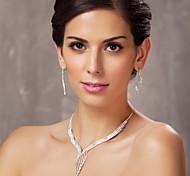 lega splendida con set austria nozze strass gioielli da sposa, tra cui collane e orecchini