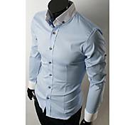 Männer Stehkragen Lässige Langarm-Shirt
