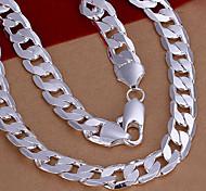 dolce collana catena di rame d'argento (1 pz)