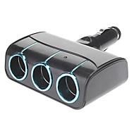 Inalámbrico multifuncional de cigarrillos 3-en-1 adaptador del cargador de sockets para los coches (colores surtidos)