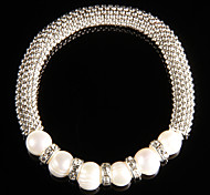 Fashionable Alloy With Pearl Women's Bracelet