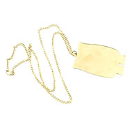 Golden Pendant Necklaces Party Jewelry