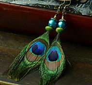 Ethnische (Peacock) Multicolor Feather Ohrringe (1 Paar)