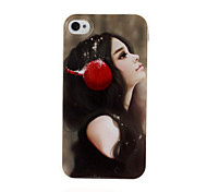 Quiet Girl TPU Soft GEL Back Case Cover for iPhone 4/4S