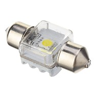 Festoon 5W 350LM 6000K Cool White LED Lampe für Auto (DC 12V, 31mm, 1pcs)