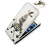 Cartoon Zebra Up-Down Turn Over PU Leather Full Bady Case for iPhone 5/5S