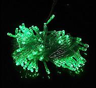10M 6W 100-LED Green Light LED Solar Strip Light for Christmas Decorations (110-120V/220-240V)