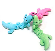 Cute Gecko Plush Squeaking Toy for Pets Dogs (Assorted Colors)