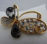Fashion Beautiful Black Austrian Crystal Butterfly Brooches