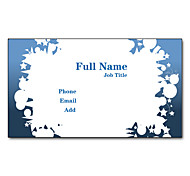 200pcs Personalized 2 Sides Printed Matte Film Simple Style Business Card