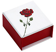 Classic Red Paper Jewelry Box For Ring (Red)(1 Pc)
