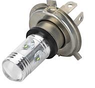 H419602 H4 12W 580~670lm 6000~6500K 4-Cree XP-E White Light Car Foglight - Silver