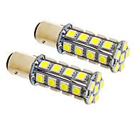 1157/BA15D 7W 30x5050SMD 580LM 5500-6500K Cool White LED Lampe für Auto (12V, 2 Stück)