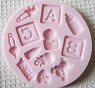 ABC РЕБЕНОК Силиконовые Mold Фондант Пресс-формы Сахар Craft Инструменты Chocolate Форма для тортов