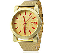 Women's Analog Quartz Gold Mesh Steel Band Wrist Watch (Assorted Colors)