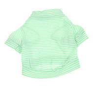 Dog Shirt / T-Shirt Green Summer Stripe