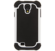 Two Layers Football Line Pattern Unique Design PC and Silicone Back Case Cover for Samsung Galaxy S4 I9500