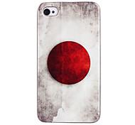 bandeira japonesa abs de volta caso para iphone 4/4s