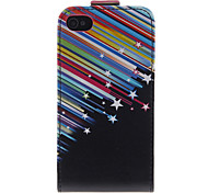 Meteor Shower Pattern PU Leather Full Bady Case for iPhone 4/4S