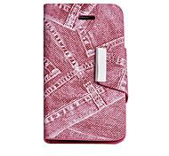 Joyland Red Jean PU-Leder Ganzkörper-Fall für iPhone 4/4S