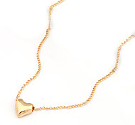 Golden Heart Pendant Necklace
