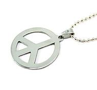 Titanium Friedenszeichen Silber Halskette