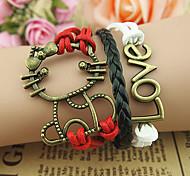 Women's Cat Pattern LOVE Bracelet Christmas Gifts