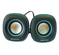 SENIC SN-433 Tragbarer Cool-Design-Mini-Lautsprecher für Laptops / PC (1 Paar) Optional Farben