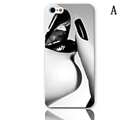Lovely Robot Series Design Pattern Hard Case with 3-Pack Screen Protectors for iPhone 5/5S