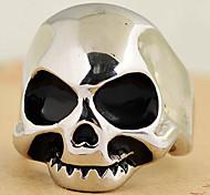 Punk Skull Head 316L Stainless Steel Ring Men'S Jewelry