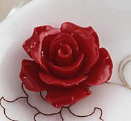 Fashion Rose Shape Red Acrylics Charms(10pcs)