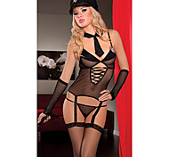 Police Style Black Women's Lingerie Sexy Uniform