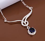 weet (pendentif rond) ilver collier pendentif en cuivre (blanc, bleu, rouge, violet) (1 pc)