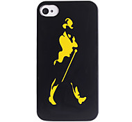Joyland Silhouette Gentleman modello ABS posteriore Case for iPhone 4/4S
