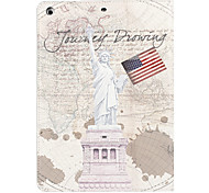 The Statue of Liberty and American Flag Pattern PU Full Body Case with Stand for iPad Air