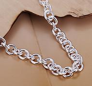 plata dulce pulsera de cobre 19cm de las mujeres (plata) (1 pc)