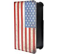 Bandera del vintage de la PU del patrón de cuero de caso completo de American Body para Samsung Galaxy P3200 TAB3