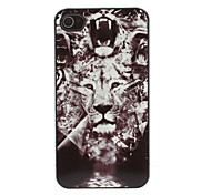 Roaring Lion Pattern Aluminium Hard Case for iPhone 4/4S