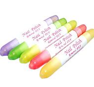 1PCS Nail Art Polish Corrector Pen entfernen Fehler mit 3 Tipps (zufällige Farbe)