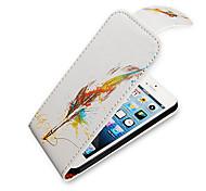 Feder-Stift Up-Down-Schalten über PU-Leder Voll Bady Hülle für das iPhone 5/5S