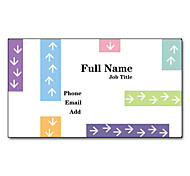 200pcs Personalized 2 Sides Printed Matte Film Arrows Pattern Business Card